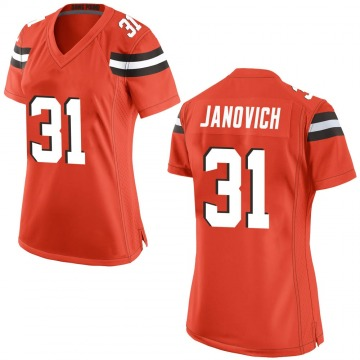 Women's Cleveland Browns Andy Janovich Orange Game Alternate Jersey By Nike