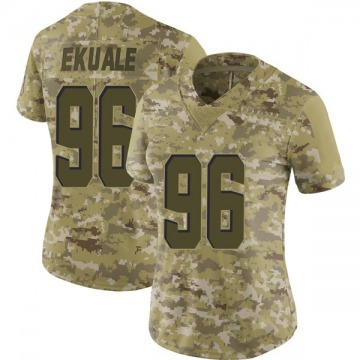 Women's Cleveland Browns Daniel Ekuale Camo Limited 2018 Salute to Service Jersey By Nike