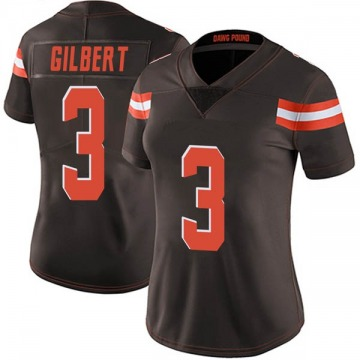 Women's Cleveland Browns Garrett Gilbert Brown Limited Team Color Vapor Untouchable Jersey By Nike