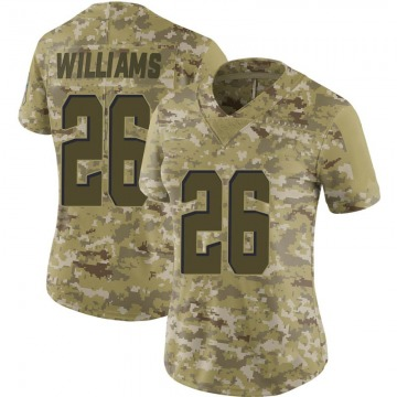 Women's Cleveland Browns Greedy Williams Camo Limited 2018 Salute to Service Jersey By Nike