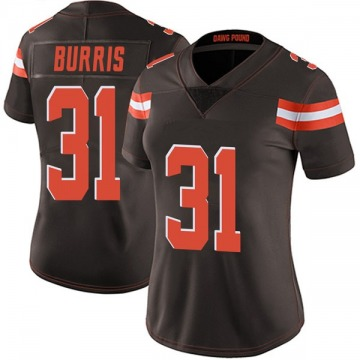 Women's Cleveland Browns Juston Burris Brown Limited Team Color Vapor Untouchable Jersey By Nike
