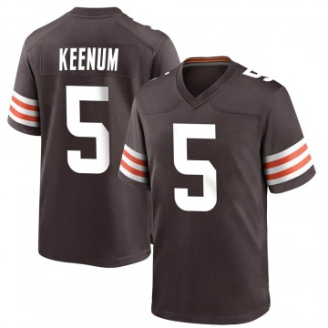 Youth Cleveland Browns Case Keenum Brown Game Team Color Jersey By Nike
