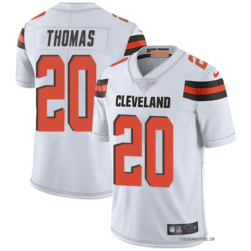 Youth Cleveland Browns Tavierre Thomas White Limited Vapor Untouchable Jersey By Nike